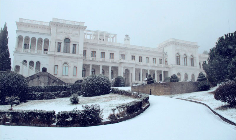 Ливадийский дворец зимой