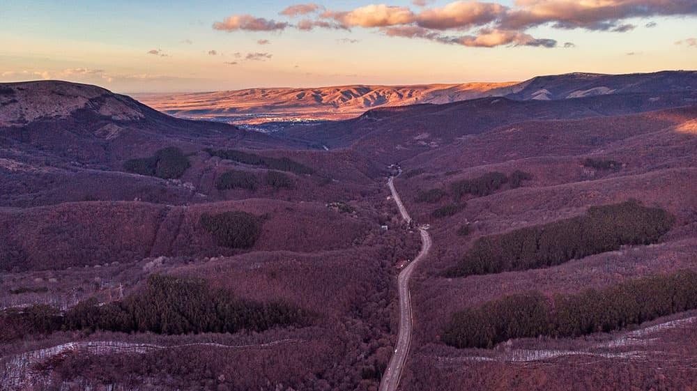 Ангарский перевал вид сверху