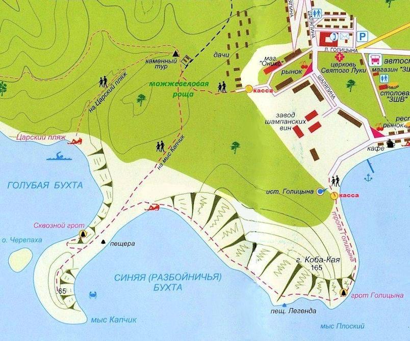 Царский пляж Карта