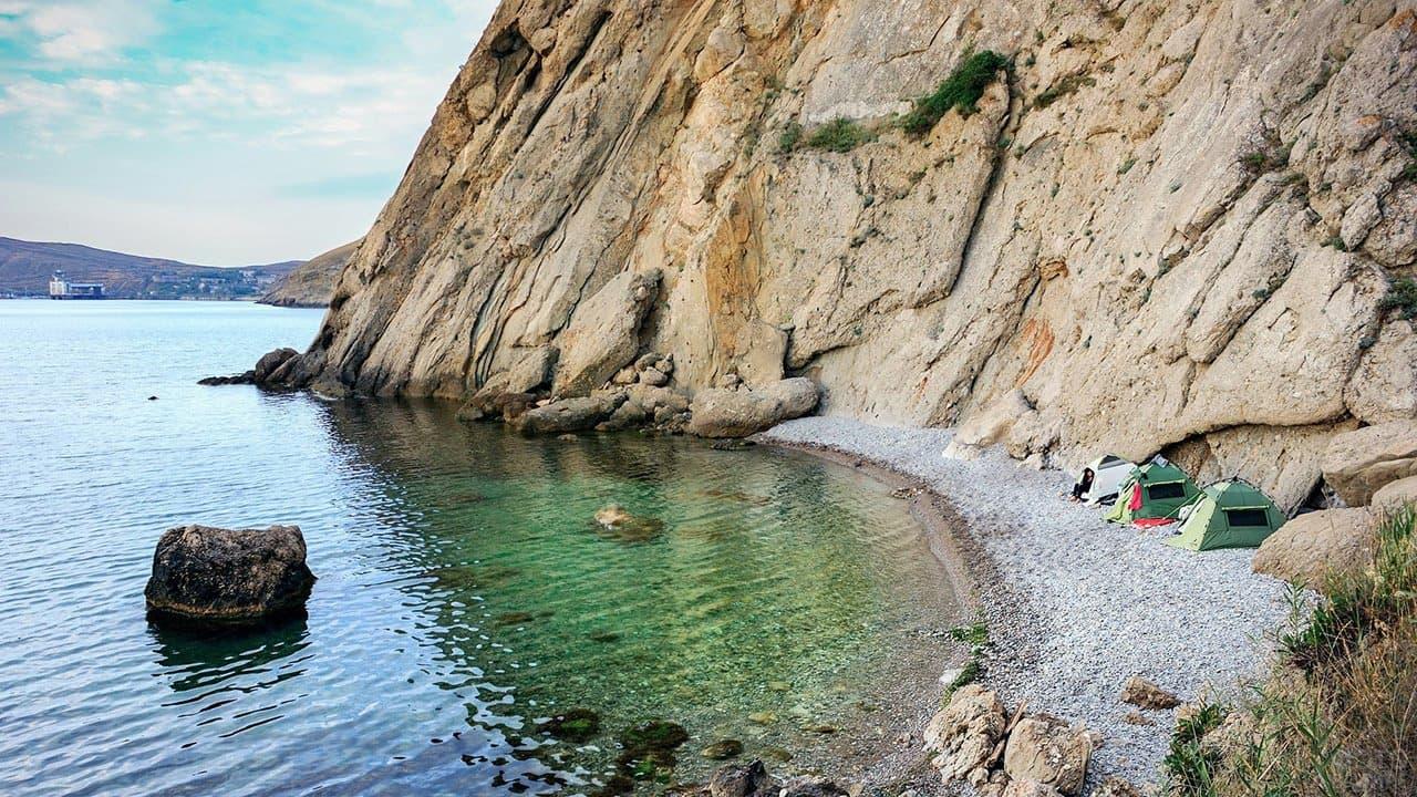 Орджоникидзе пляж под седлом