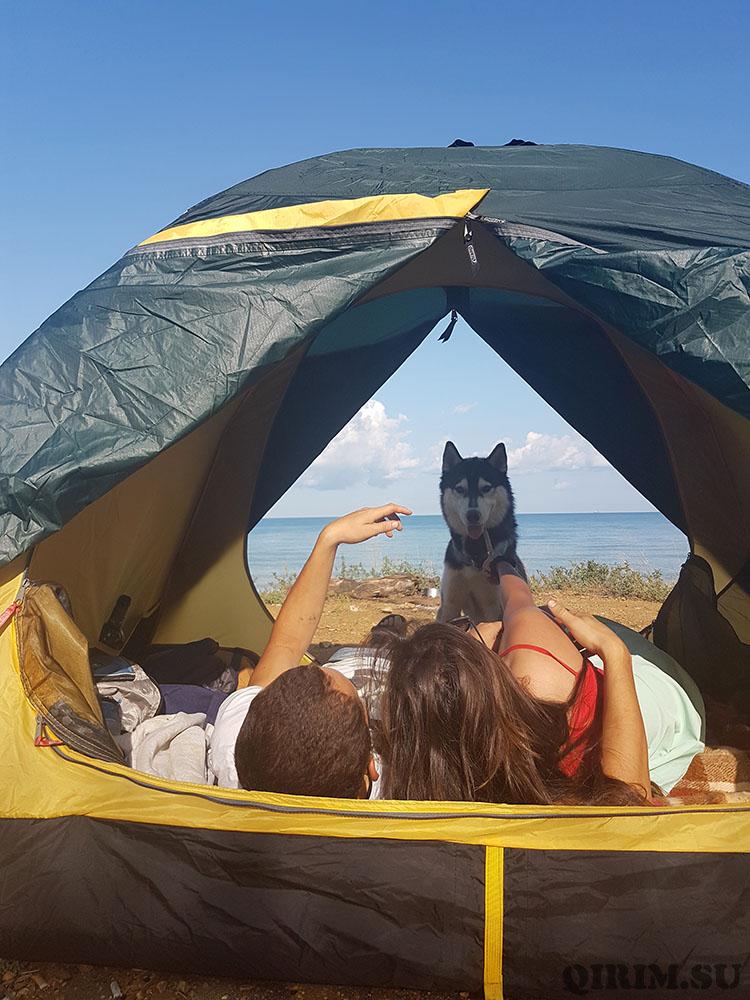 отдых с палаткой в Учкуевке