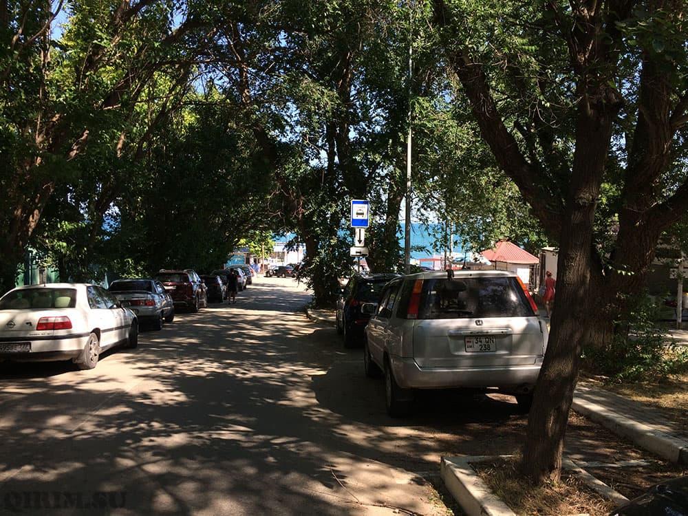 Учкуевка зона парковки