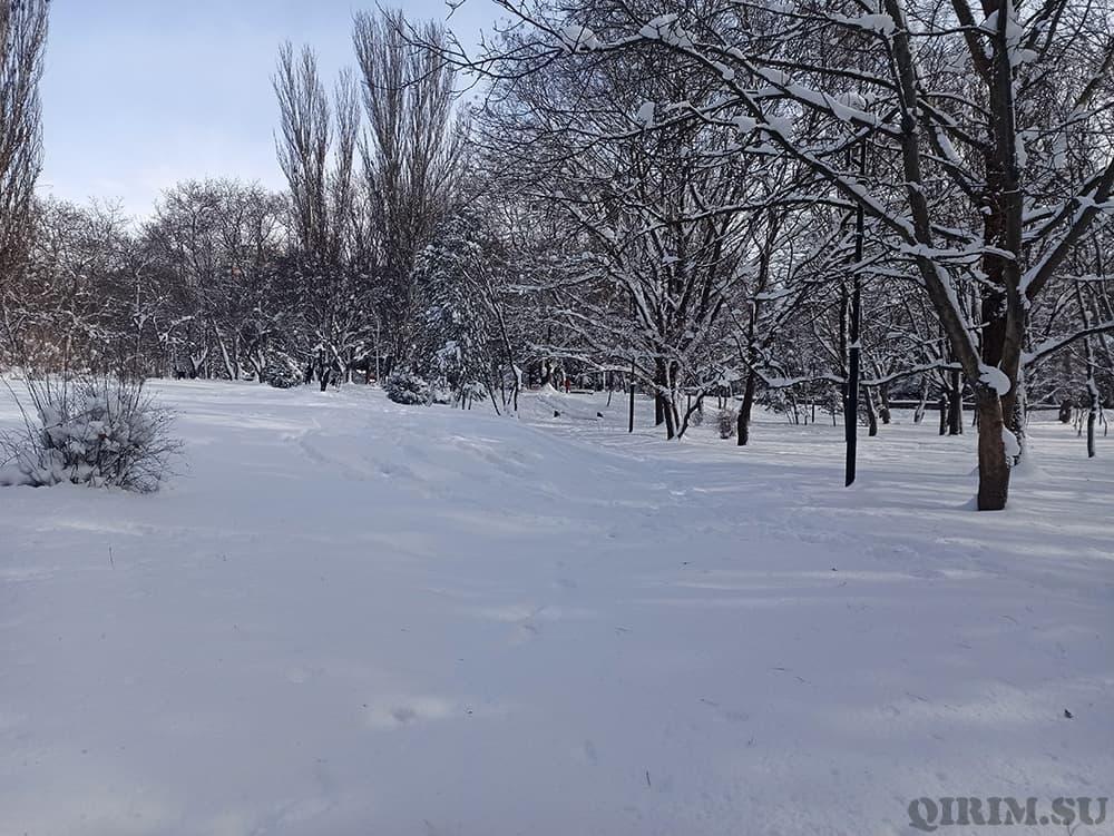 Гагаринский парк Симферополь зима