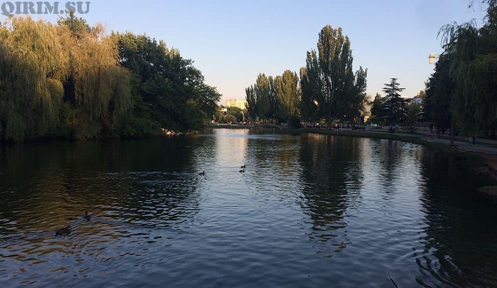 парк Гагарина озеро