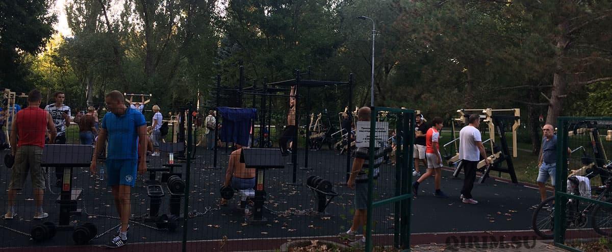 тренажеры в парке Гагарина