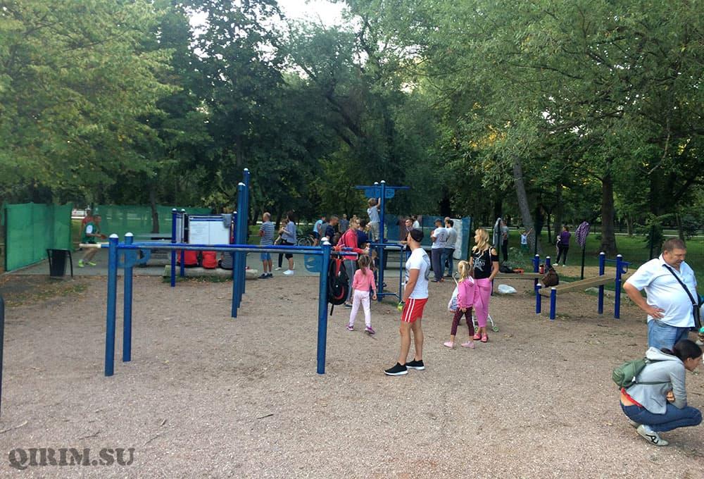 турники в парке гагарина