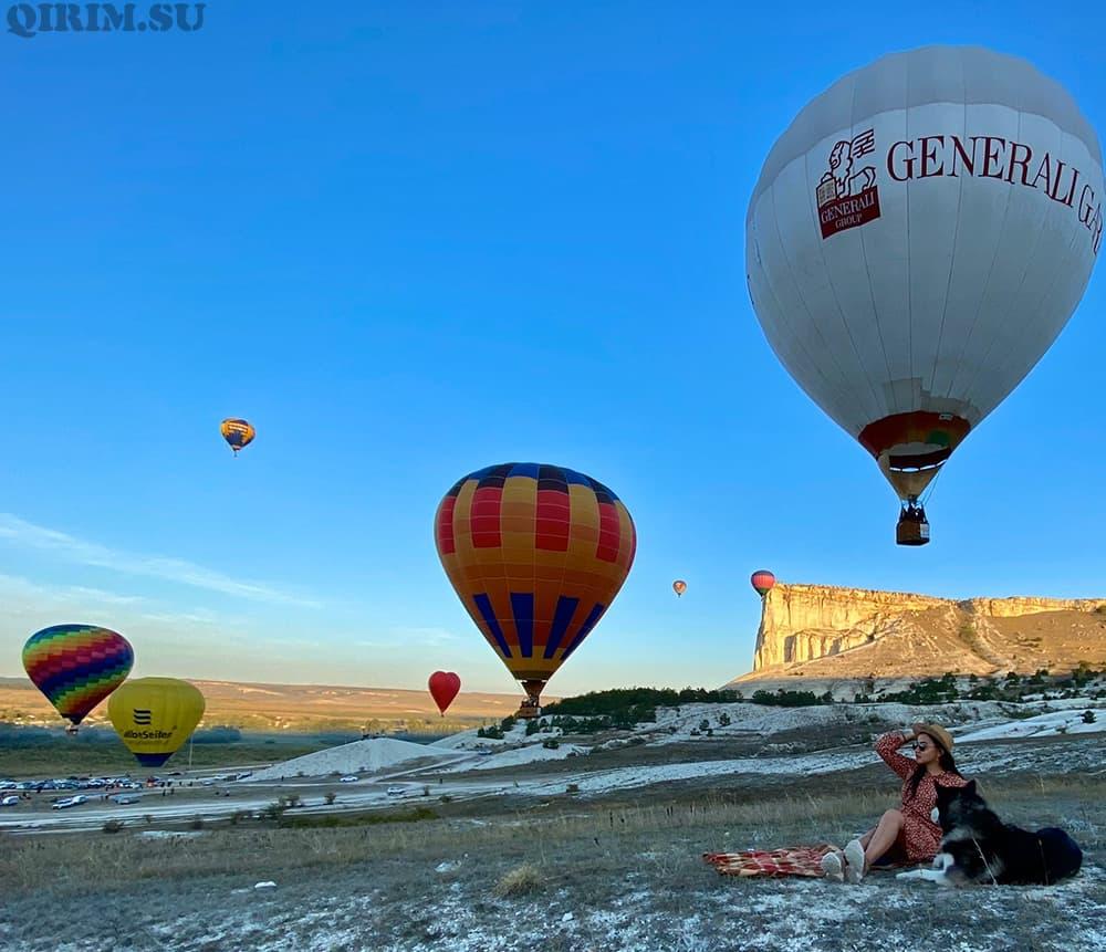 Ак-Кая Белая скала воздушные шары