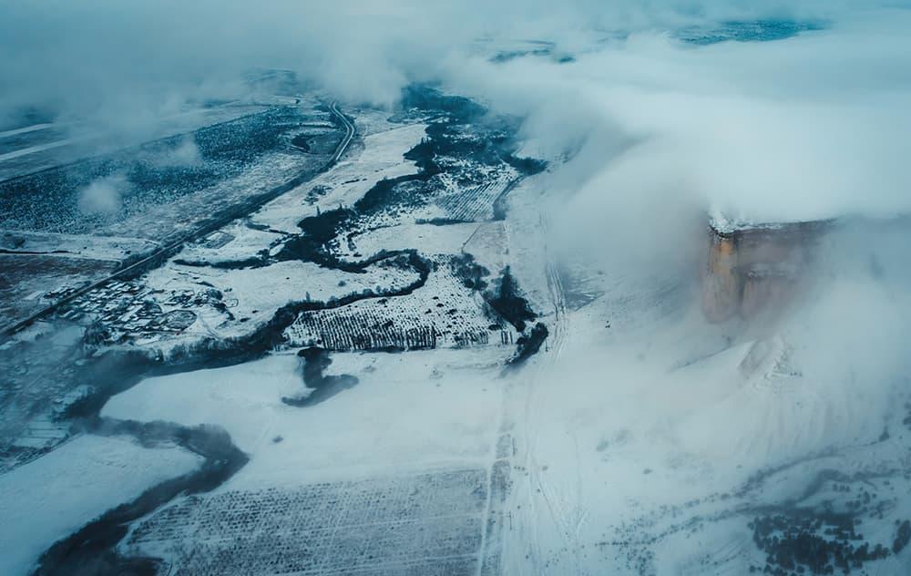 Белая Скала Зимой