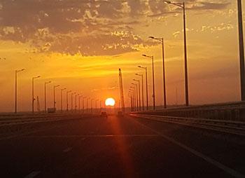 Керченский мост закат vbybfn
