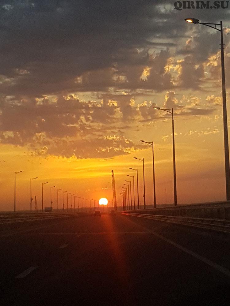 Керченский мост закат