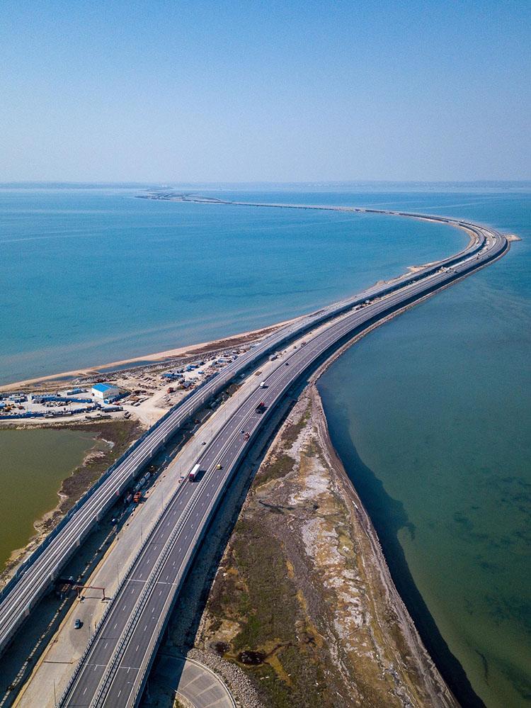 Крымский мост вид сверху