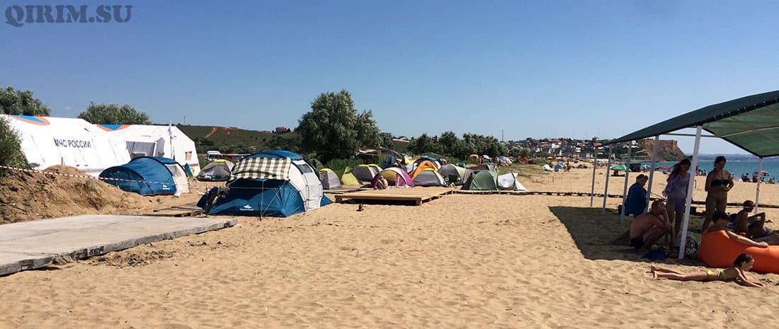 Орловка палаточный городок между Вязовой рощей и звездным берегом