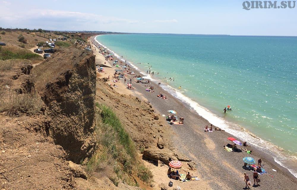 Николаевка пляж на обрыве