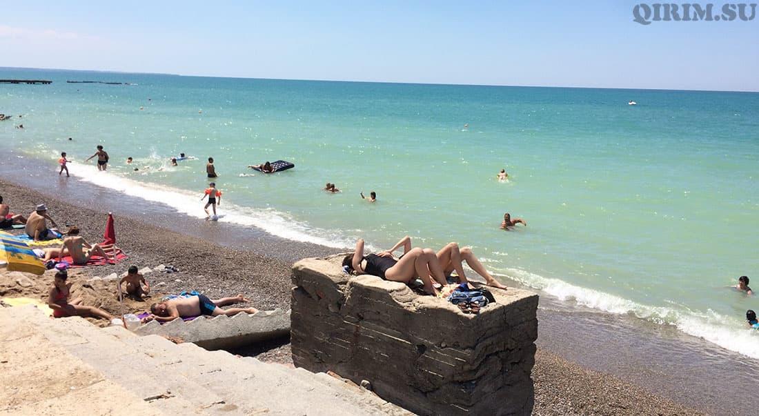 Николаевка ступеньки на пляже