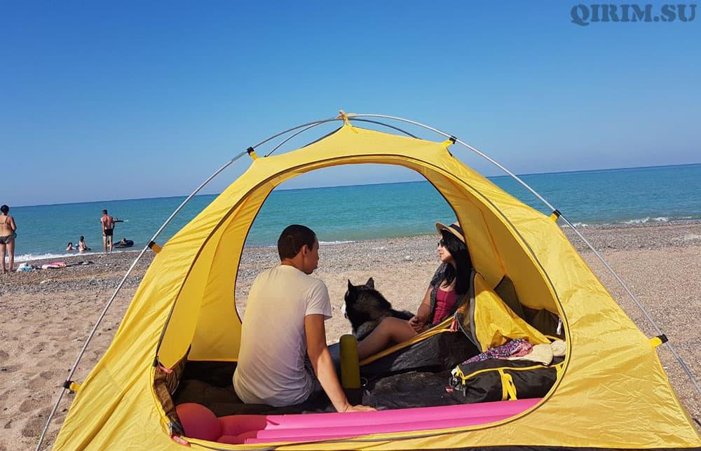 Новофедоровка отдых с палаткой