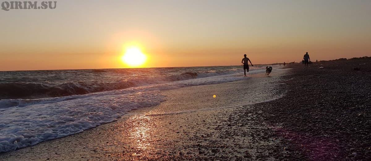 Новофедоровка пробежка вдоль моря