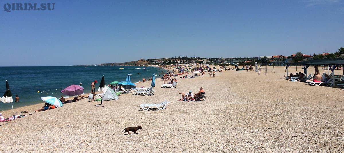 пляж в Любимовке