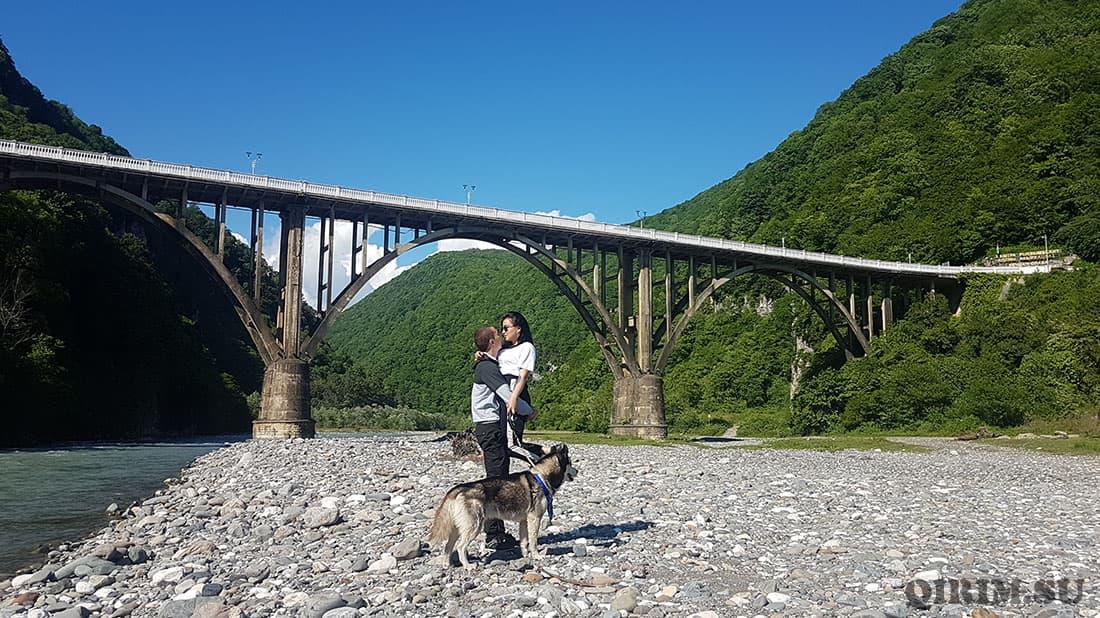 Сухум мост перед городом
