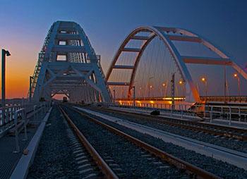 Открытие железнодорожной магистрали Крымского моста