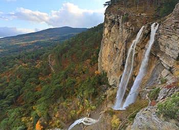 водопад Учан-Су миниатюра