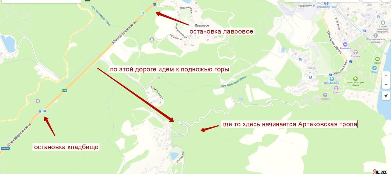 Карта АЮ Даг