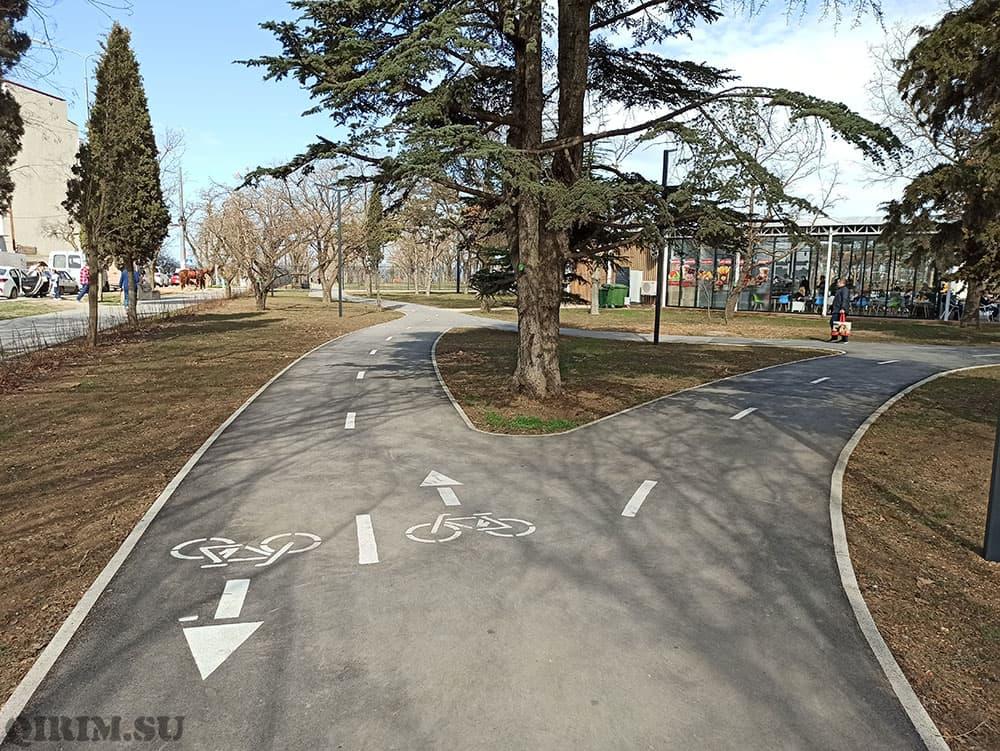 Парк Учкуека велосипедная дорожка