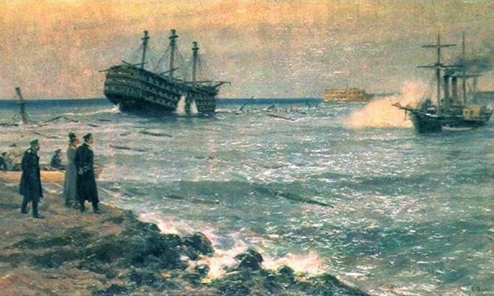 затопление кораблей илюстрация