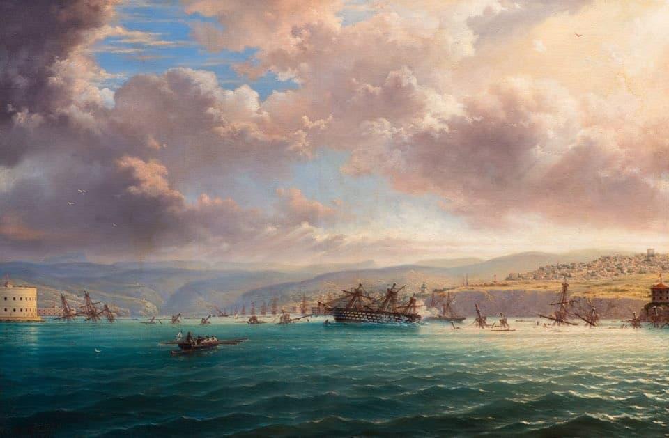 затопление кораблей в Севастопольской бухте