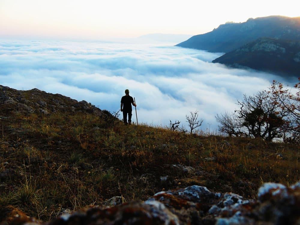 Шаан-Кая над облаками