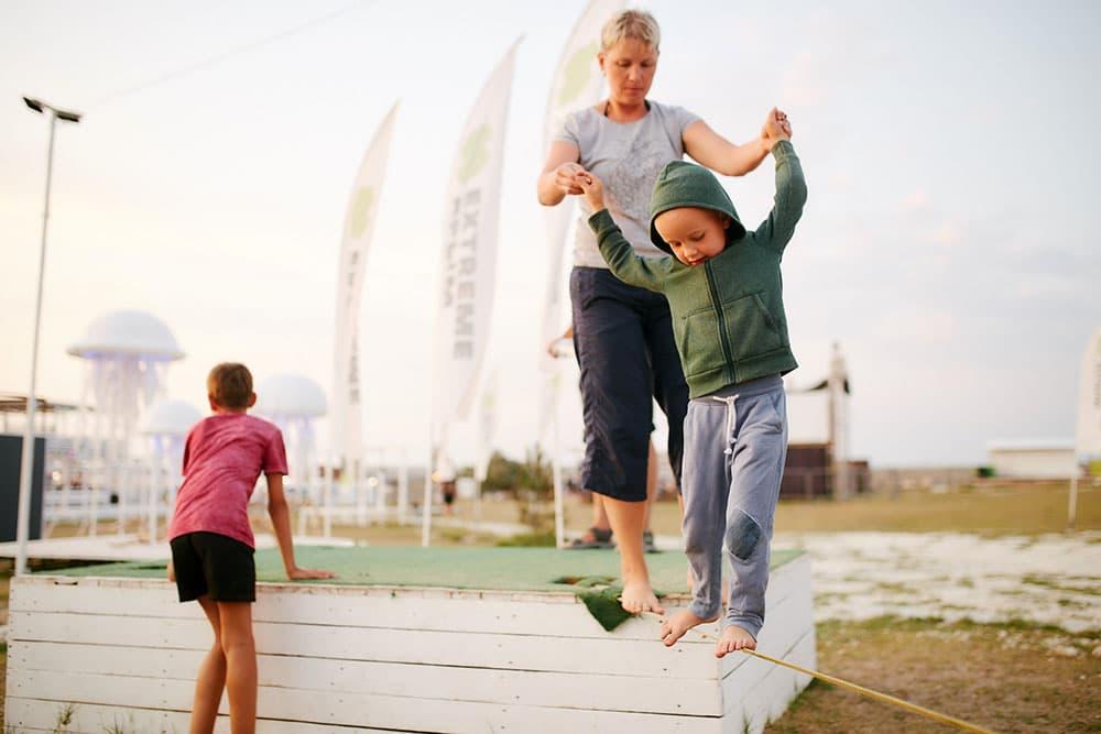 Экстрим Крым дети на веревке