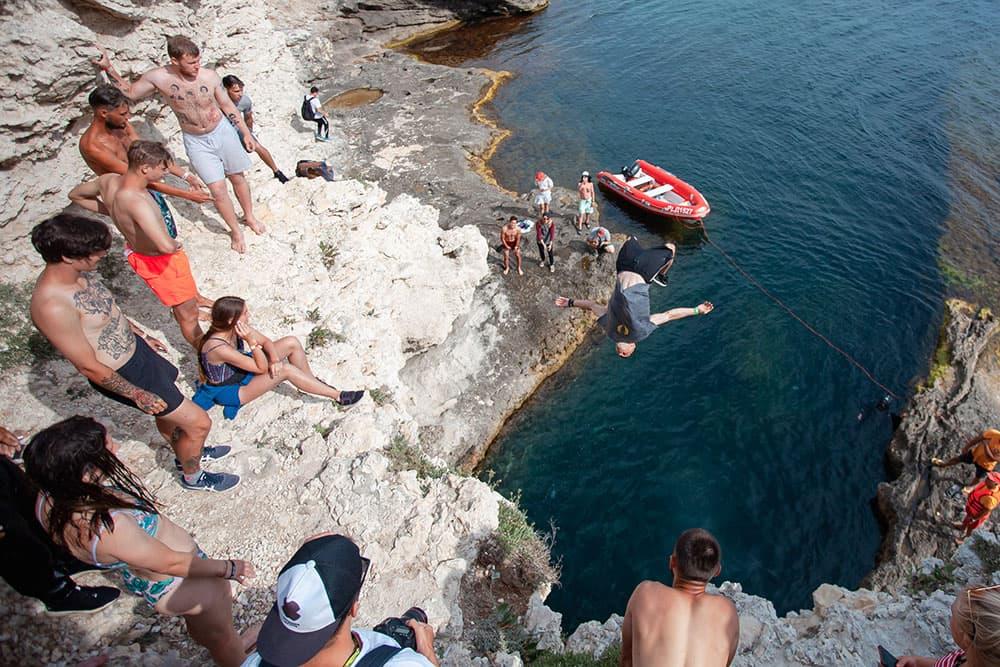 Экстрим Крым прыжки в воду