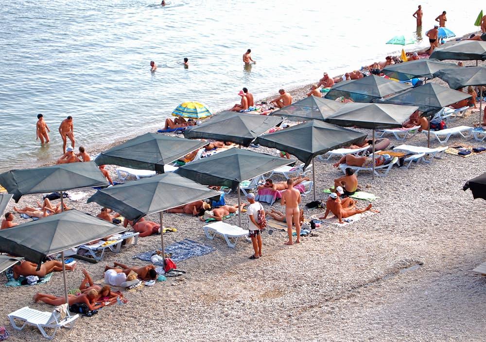 нудистский пляж в Коктебеле