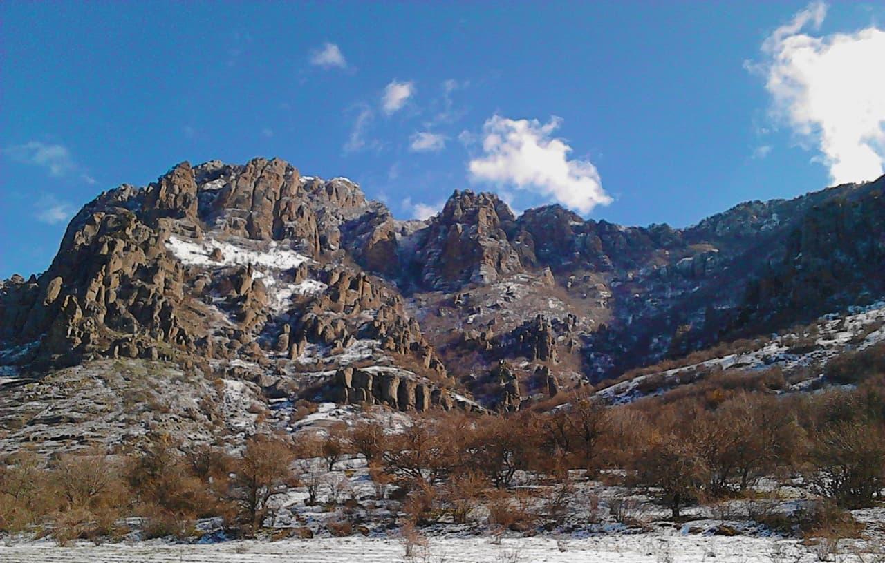Долина привидений зимой