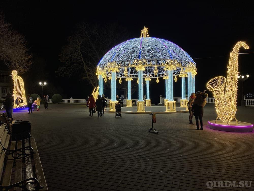 Как украсили Севастополь на Новый год 2021