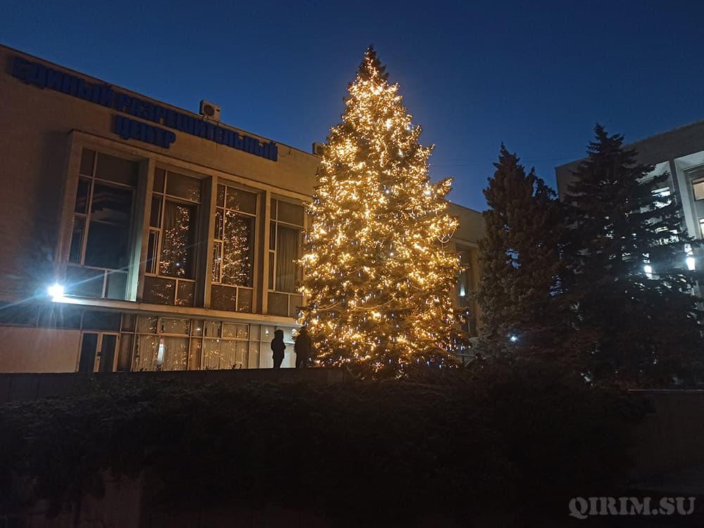 Новогодняя ёлка возле администрации города