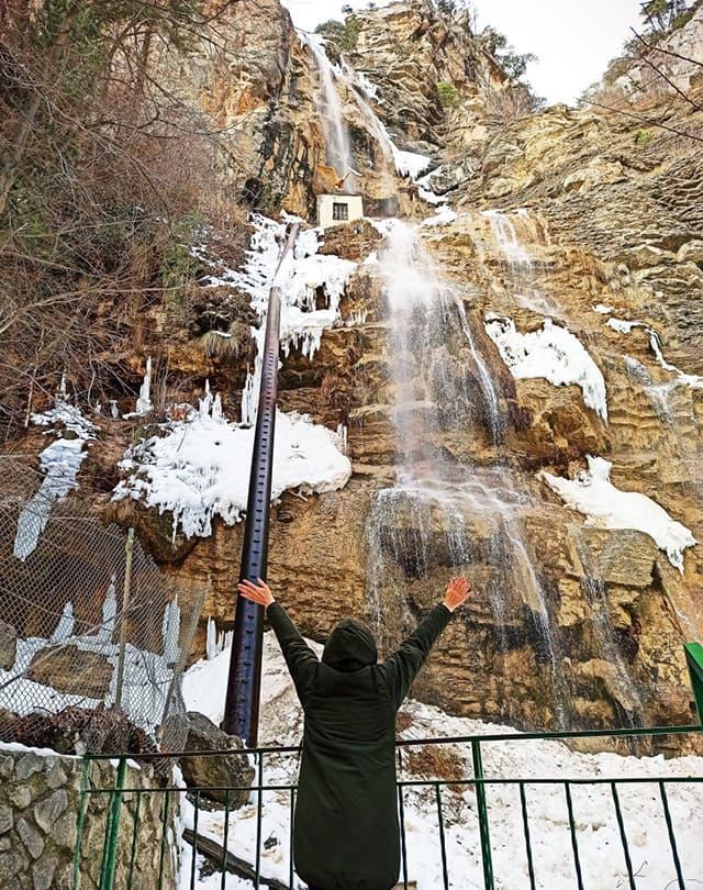 Учан-Су зимой лед