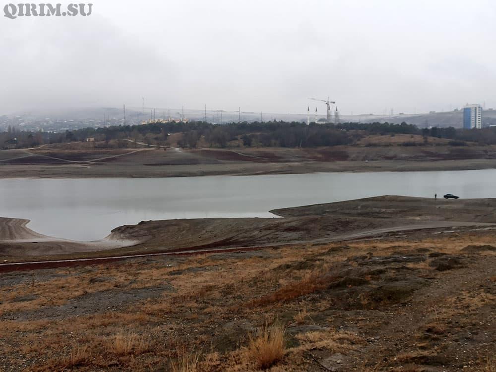 Симферопольское водохранилище 2021 год 14 января