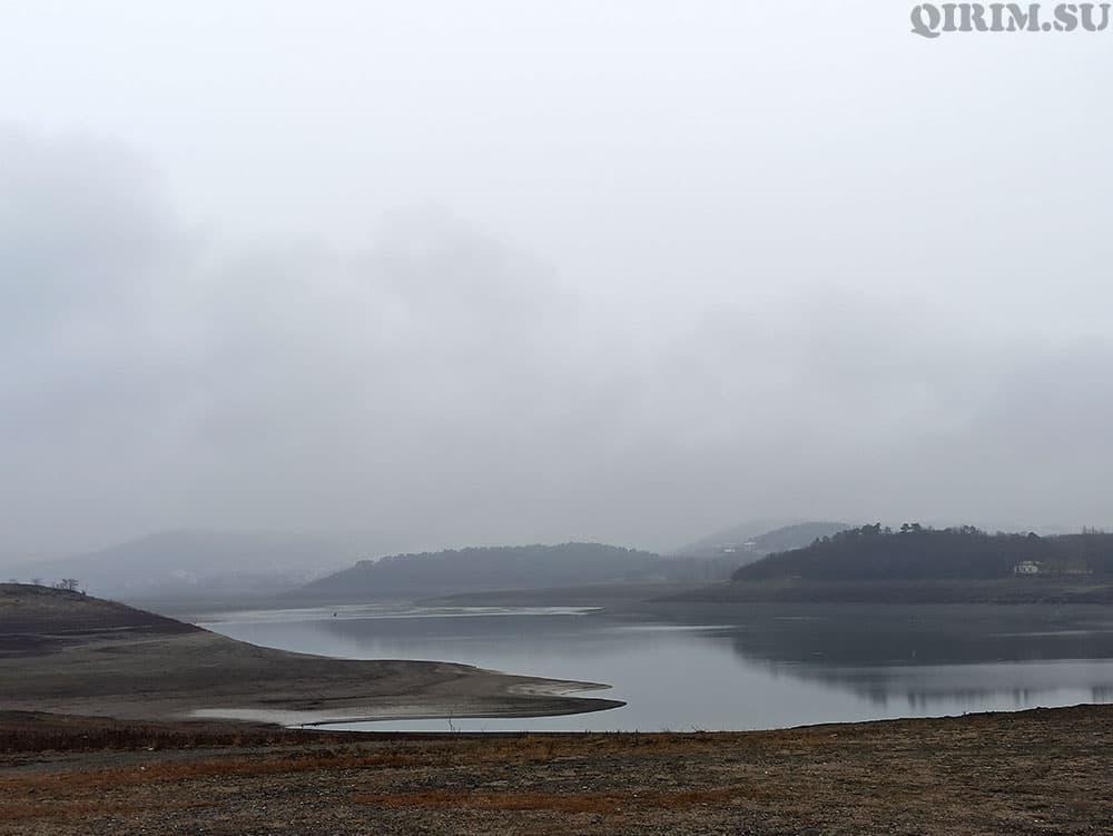 Симферопольское водохранилище 2021 зима 2