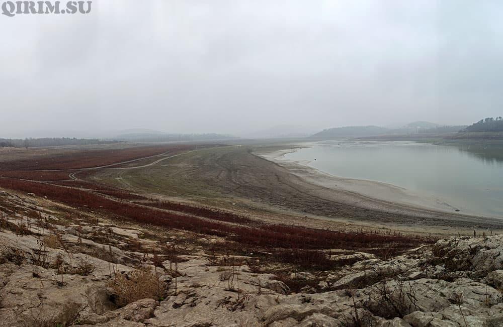 Симферопольское водохранилище зима 2021год
