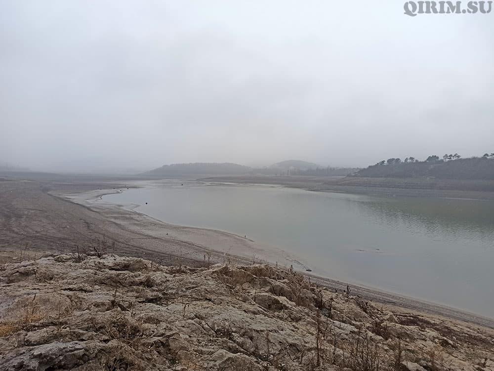 Симферопольское водохринилище 14 января 2021
