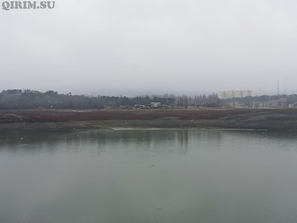 Симферопольское водохринилище зима 2021
