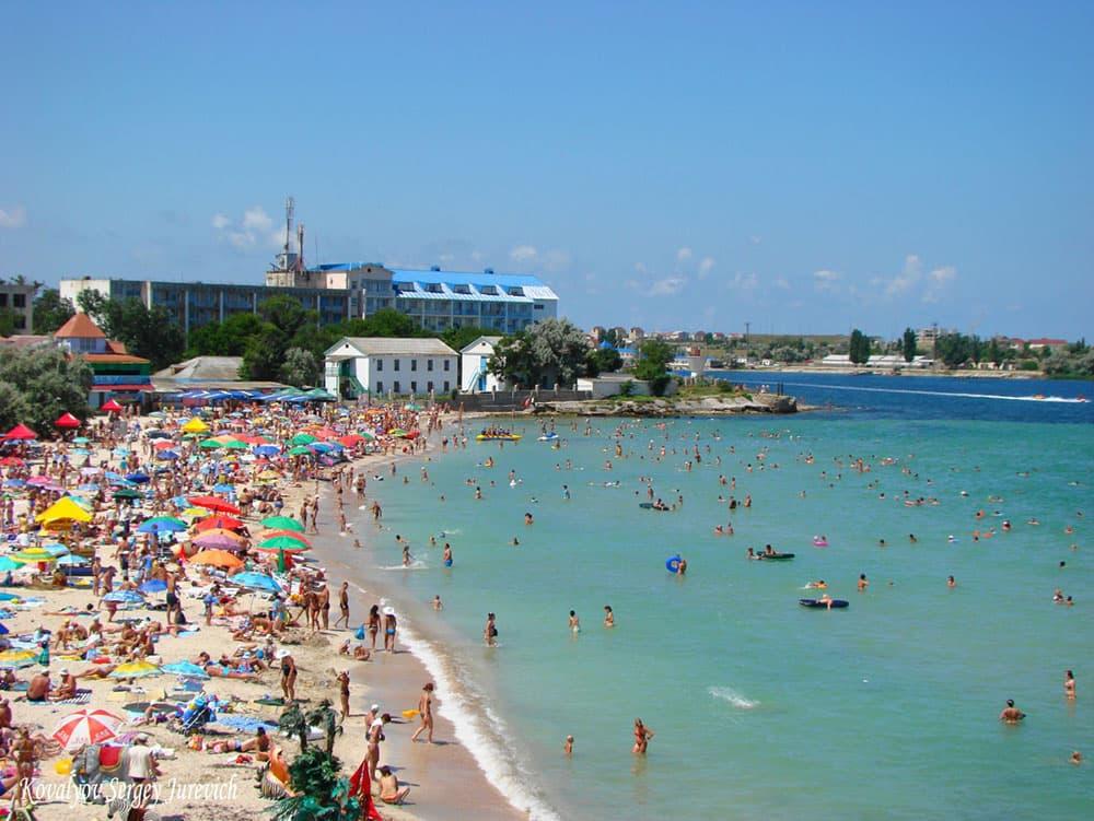черноморское пляж