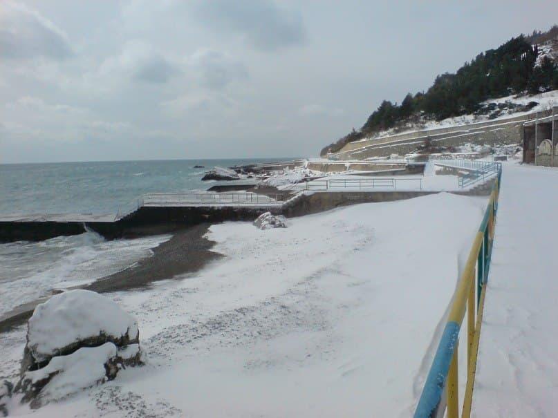 Кацивели пляж зимой