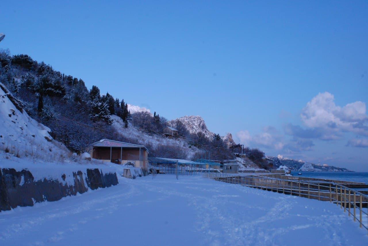 Кацивели зимой