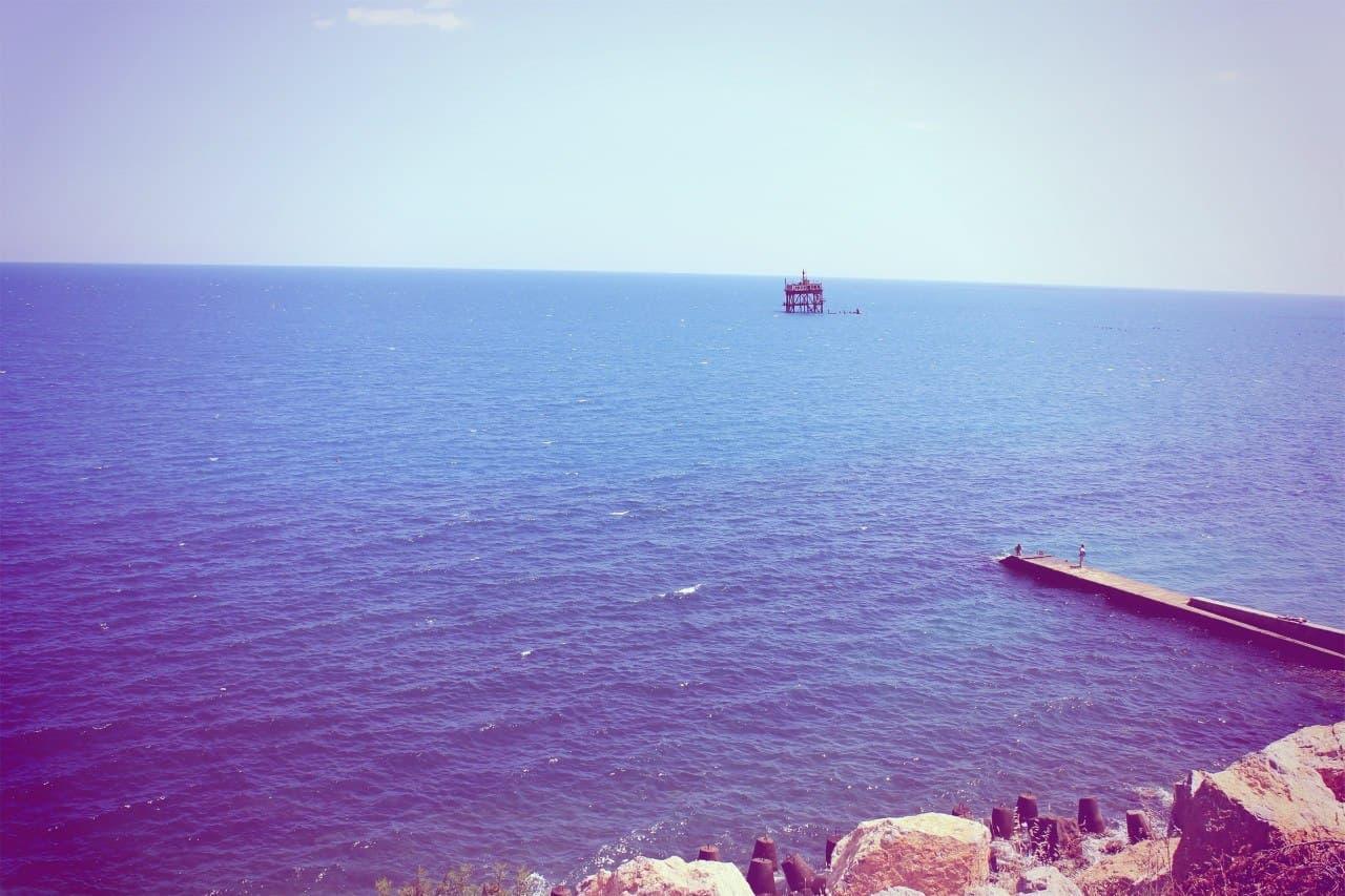 Пляж и обсерватория в Кацивели