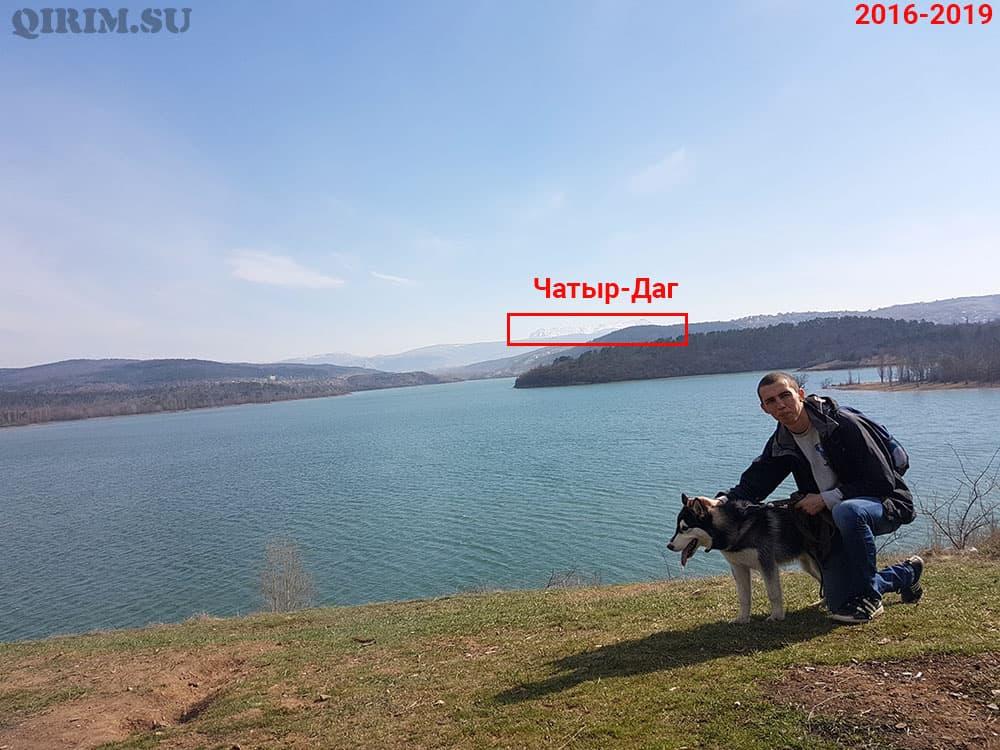 Симферопольское водохранилище вид на Чатыр-Даг 2016-2019