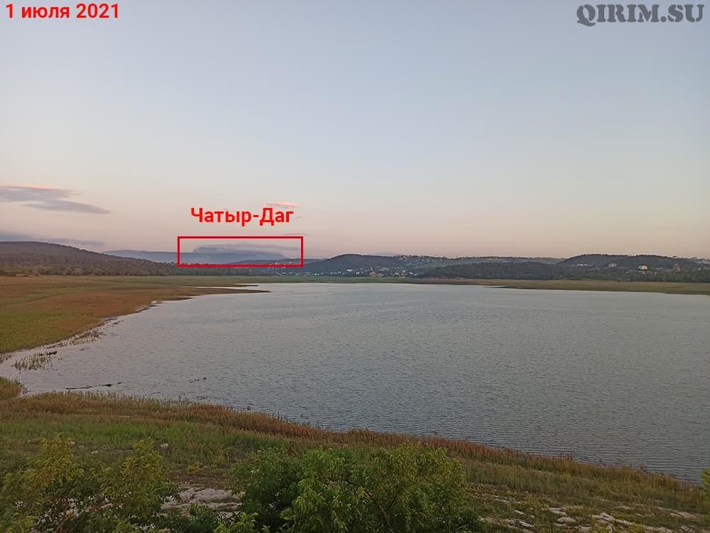 Симферопольское водохранилище Чатыр Даг1 июля