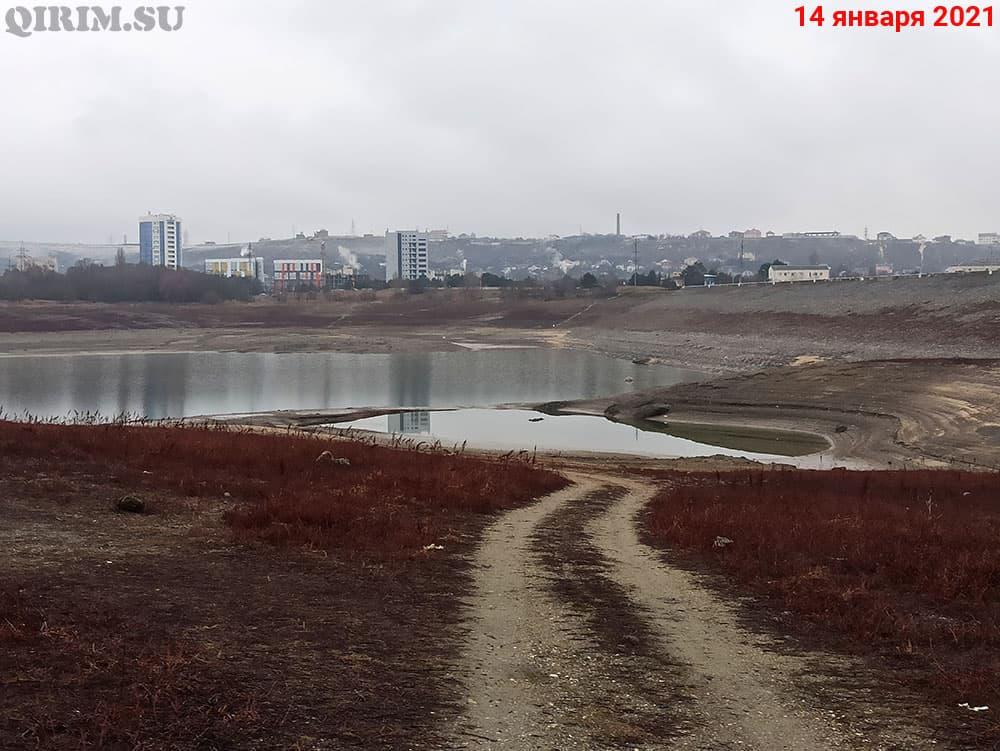 Симферопольское водохранилище дамба 14 января