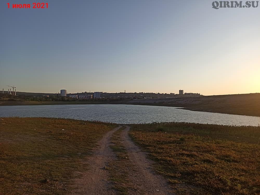 Симферопольское водохранилище дамба2 1 июля
