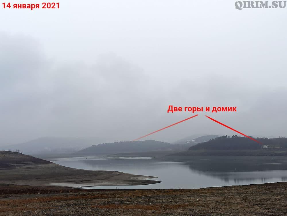 Симферопольское водохранилище две горы 14 января
